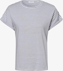 Niebieski t-shirt Opus z okrągłym dekoltem