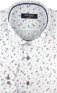 Koszula Massaro w bożonarodzeniowy wzór z długim rękawem z tkaniny