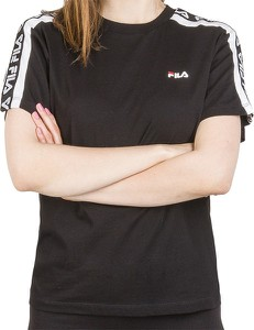 Bluzka Fila w sportowym stylu z okrągłym dekoltem z bawełny