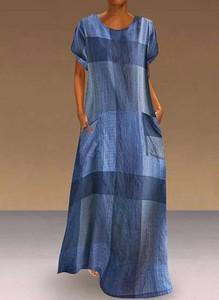 Sukienka Cikelly z krótkim rękawem maxi