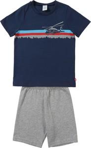 Niebieska piżama Sanetta z bawełny dla chłopców