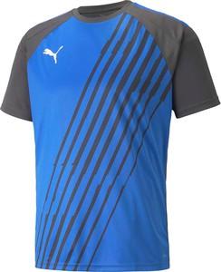 Niebieski t-shirt Puma z dżerseju w sportowym stylu