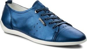 Niebieskie półbuty Gino Rossi