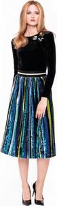 Turkusowa spódnica L'AF w stylu casual midi