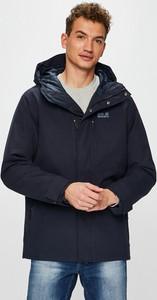 Granatowa kurtka Jack Wolfskin krótka w stylu casual