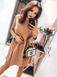 Sukienka magmac.pl mini z długim rękawem z okrągłym dekoltem