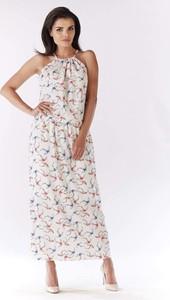 bd532402c2 długa sukienka ecru. - stylowo i modnie z Allani
