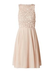 Sukienka Lace & Beads mini rozkloszowana bez rękawów