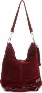 Czerwona torebka VITTORIA GOTTI na ramię duża