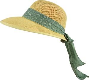 Jk collection kapelusz letni. - zielony || cappucino
