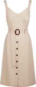 Sukienka Naf naf z dekoltem w kształcie litery v na ramiączkach mini