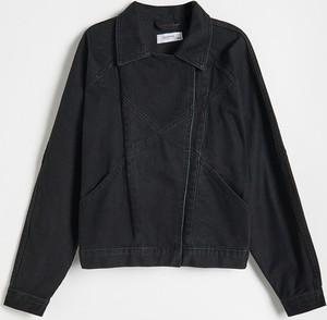 Czarna kurtka Reserved w stylu casual bez kaptura z jeansu