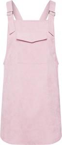 Różowa sukienka Missguided bez rękawów mini ze sztruksu