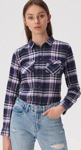 Koszula Sinsay z kołnierzykiem z długim rękawem w stylu casual