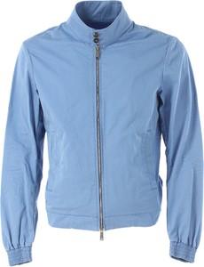 Błękitna kurtka Dsquared2 z bawełny