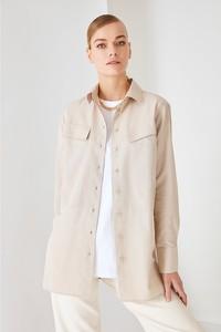 Bluzka Trendyol z długim rękawem z okrągłym dekoltem