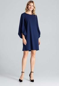 Niebieska sukienka Figl oversize