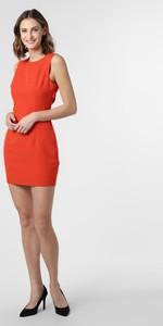 Czerwona sukienka Guess Jeans mini dopasowana bez rękawów