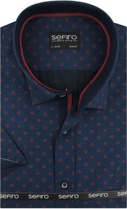 Koszula Sefiro w młodzieżowym stylu z kołnierzykiem button down z tkaniny