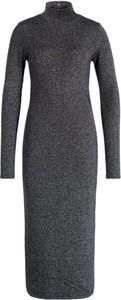 Czarna sukienka Liu Jo White dopasowana w stylu casual z golfem