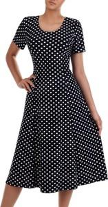 Sukienka POLSKA z okrągłym dekoltem