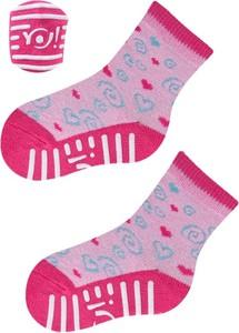 Różowe skarpetki YoClub z bawełny