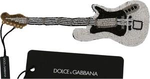 Dolce & Gabbana Gitara Sequin paciorkami Markowe Lapel Pin Broszka