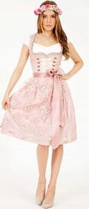Różowa sukienka Inna rozkloszowana midi