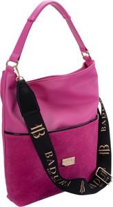 Różowa torebka Badura ze skóry ekologicznej w wakacyjnym stylu na ramię
