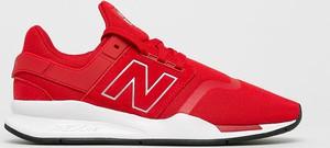 Czerwone buty sportowe New Balance ze skóry