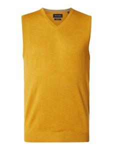 Żółty sweter Christian Berg Men z wełny