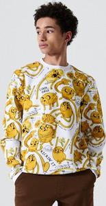 Bluza Cropp w młodzieżowym stylu z nadrukiem