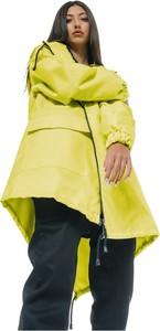Żółta kurtka REST FACTORY w stylu casual z tkaniny