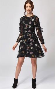 Sukienka Zibi London z okrągłym dekoltem mini