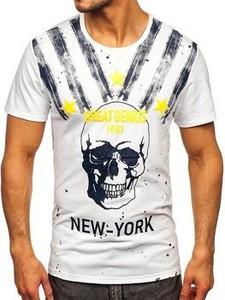 T-shirt Denley z bawełny w młodzieżowym stylu z krótkim rękawem