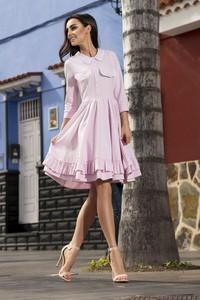 Różowa sukienka Lemoniade w stylu casual z dresówki