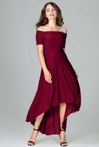 Bordowa sukienka Katrus