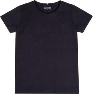 Granatowa koszulka dziecięca Tommy Hilfiger z krótkim rękawem