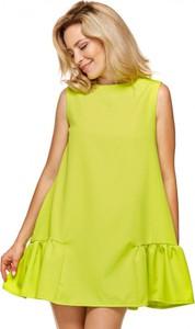 Sukienka Ooh la la bez rękawów z okrągłym dekoltem