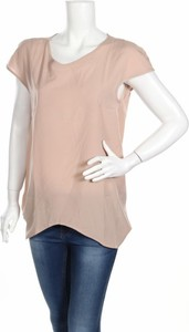 Brązowa bluzka Figl z okrągłym dekoltem z krótkim rękawem
