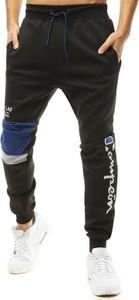 Czarne spodnie sportowe Dstreet z dresówki w sportowym stylu