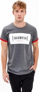 T-shirt Gate z krótkim rękawem z bawełny z nadrukiem