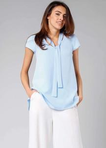 Niebieska bluzka Nommo z krótkim rękawem