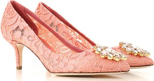 Różowe szpilki Dolce & Gabbana ze skóry