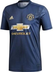 Niebieski t-shirt Adidas z jedwabiu