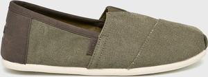 Zielone buty letnie męskie Toms z tkaniny