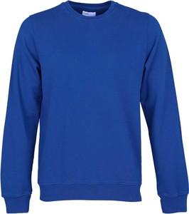 Niebieski sweter Colorful Standard z okrągłym dekoltem w stylu casual