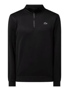 Czarny sweter Lacoste w stylu casual ze stójką