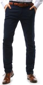 Granatowe spodnie Dstreet