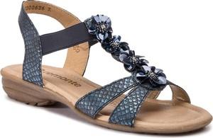 Sandały Remonte By Rieker w stylu casual ze skóry ekologicznej